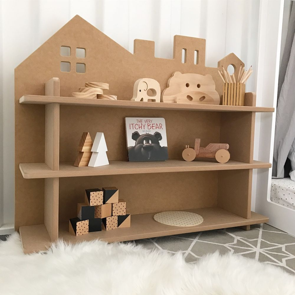 Kids bookcase doll house shelf city quality australian made diy