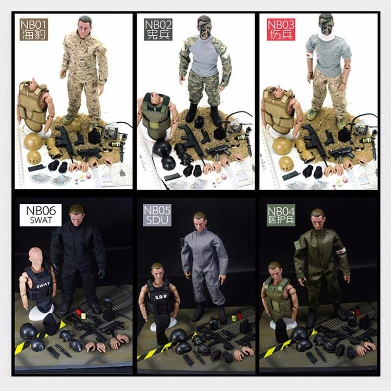 US$12.99 32% NB 1/6 30cm Uniform Military Army Combat Game Toys ...