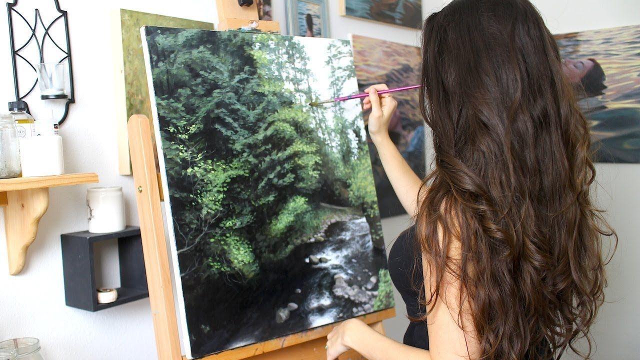 Oil Painting Time Lapse Oregon Landscape Youtube Oil Painting Landscape Oil Painting Nature Oil Painting Flowers