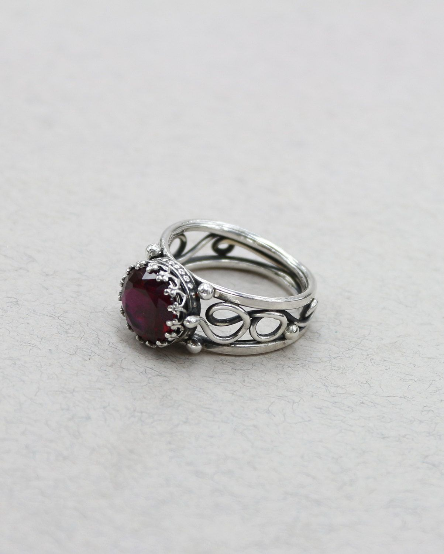 Antique Garnet Ring Vintage Rings For Women Rings For Men Antique ...