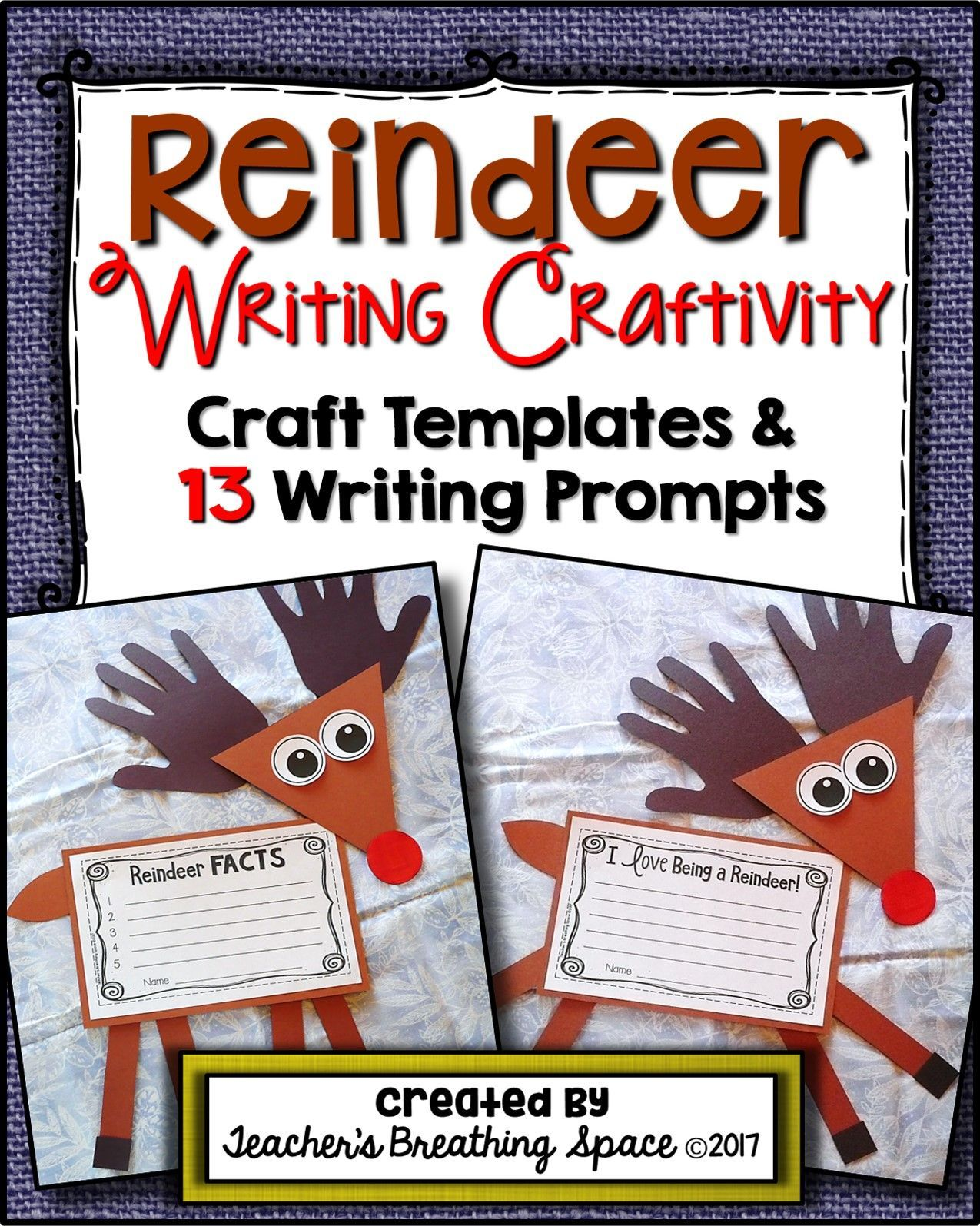 Reindeer Craftivity Reindeer Craft And Writing Project