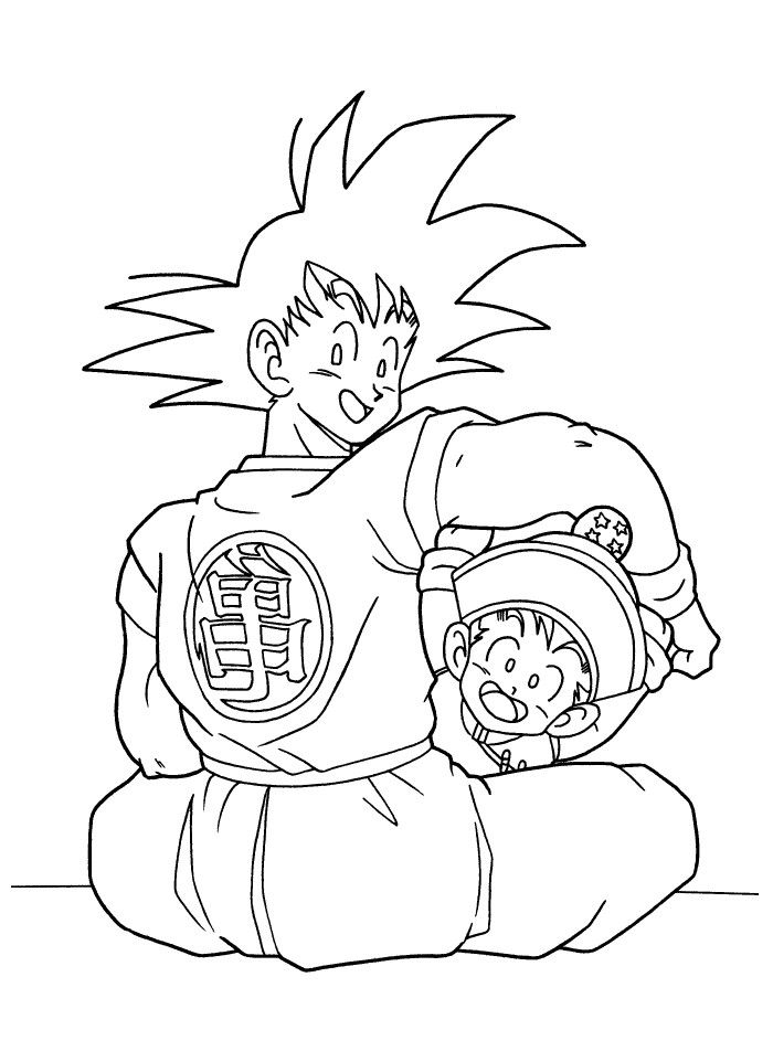 Dragon Vall Goku and Gohan Coloring Pages | Coloring Page ...