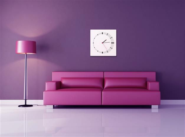 Ambiance feutr e pour ce salon o le mauve apporte une touche romantique c - Zolpan intensement couleur ...