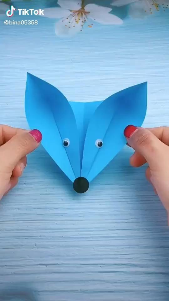 Photo of Origami video. Beautiful fox. .
