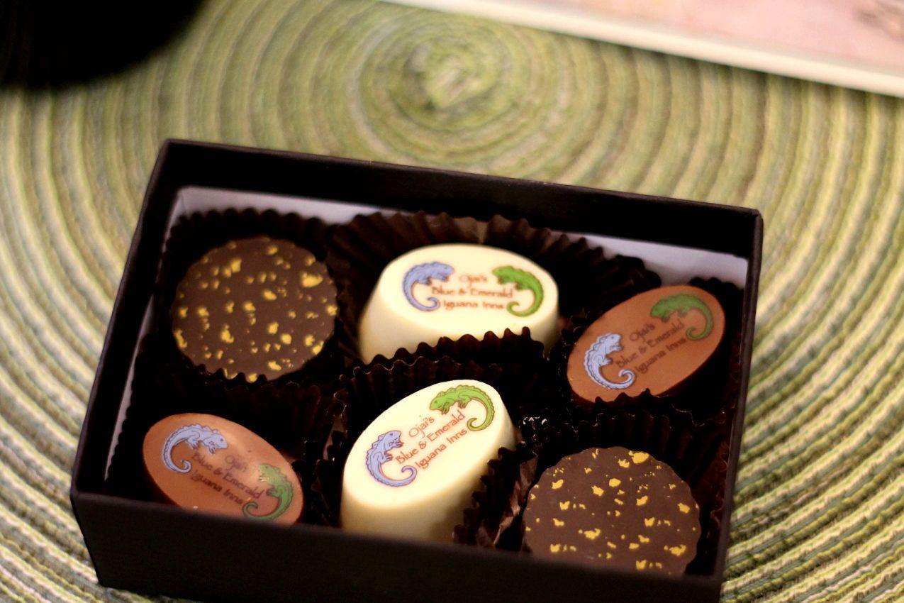 Emerald Iguana Inn's Box of Gourmet Chocolates - StyleAt30 - http ...