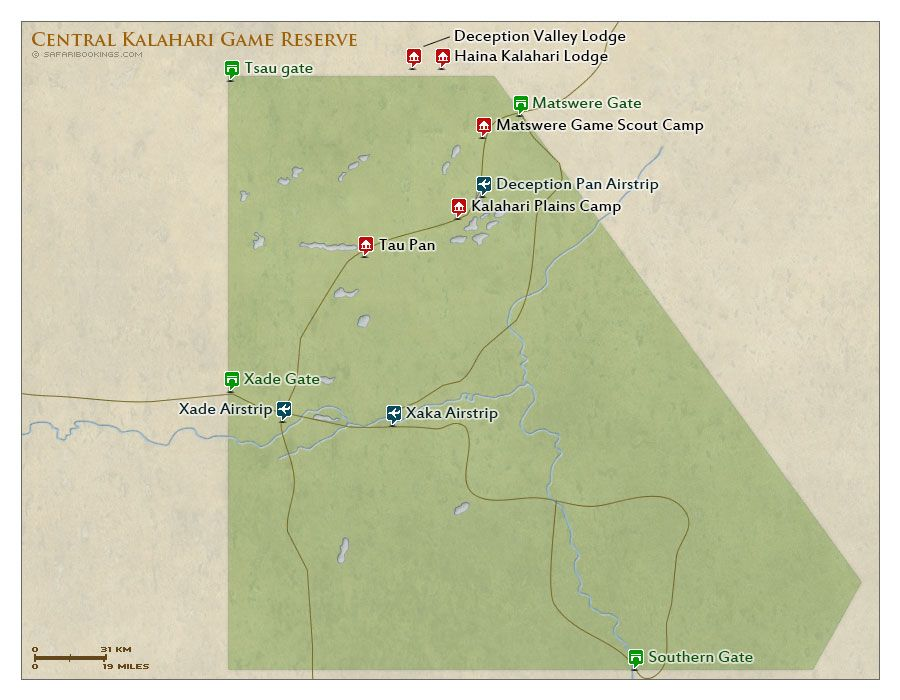 See Our Central Kalahari Game Reserve Travel Guide With Reviews Map