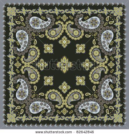 Bandana Design Template | Vector Download » Square Floral