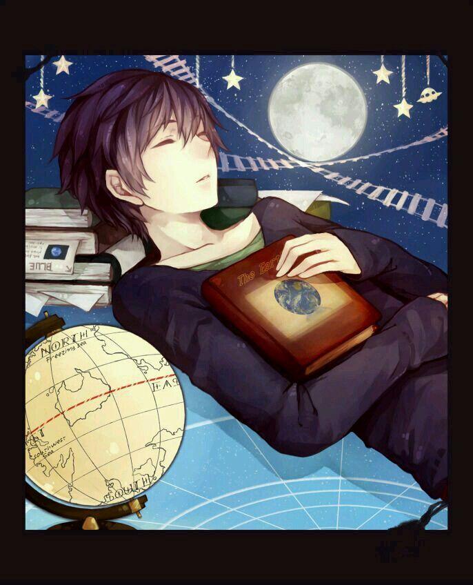 Anime Characters Sleeping : Anime boy sleeping with book random guys boys
