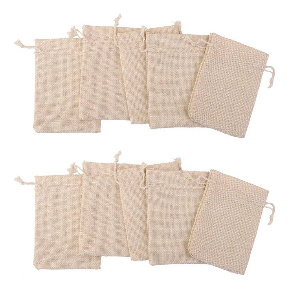 NUOLUX Cotton Muslin Bags Mini Drawstring Gift Bags Wedding Favor ...
