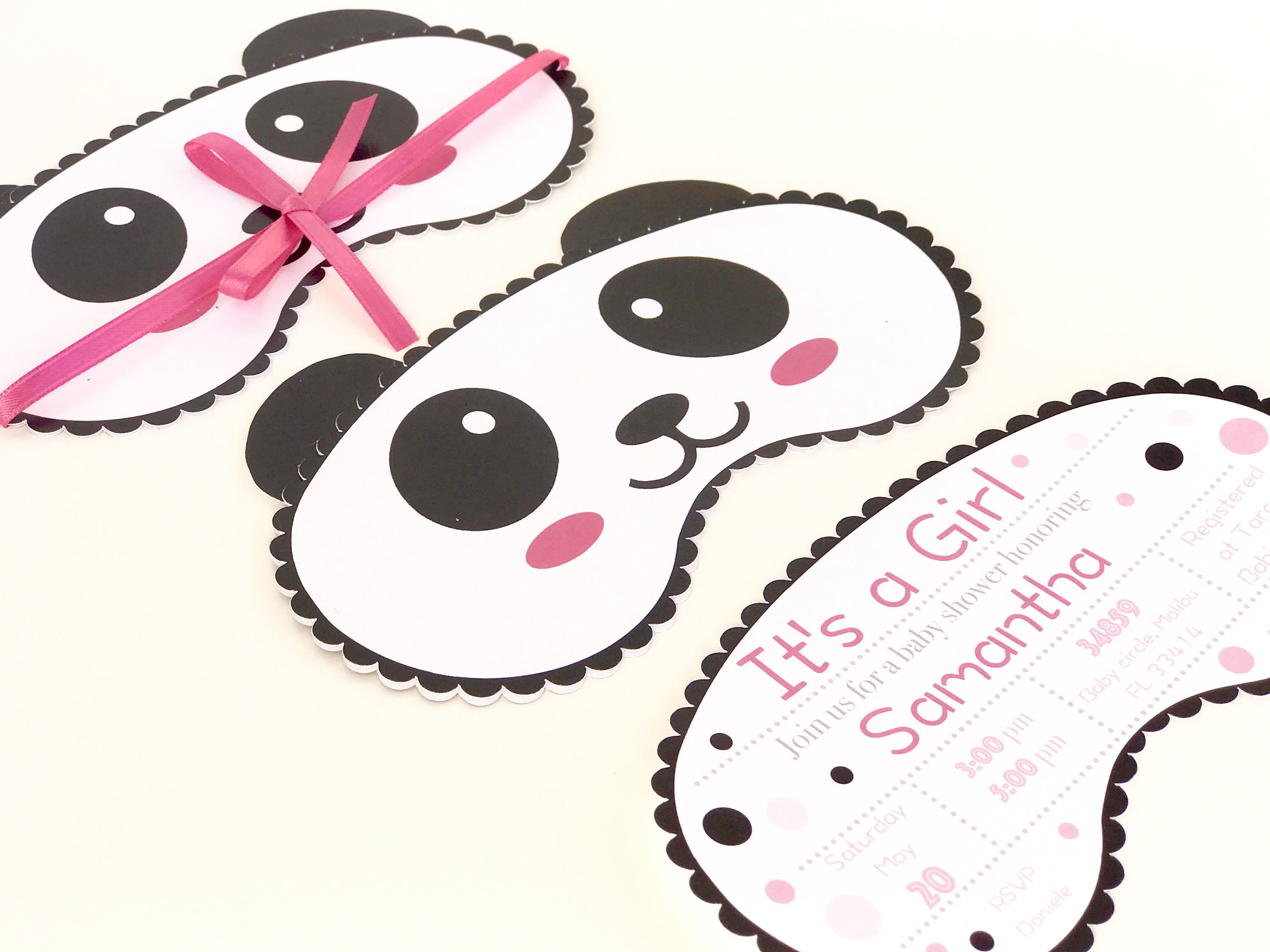 Panda Baby Shower Invitation | Panda Bear Invitation | Panda Invites ...
