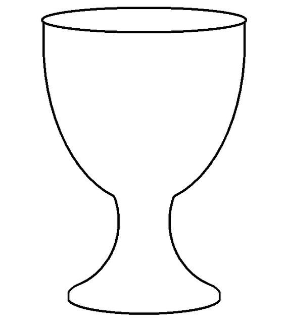 goblet chalice template for first holy communion banner print