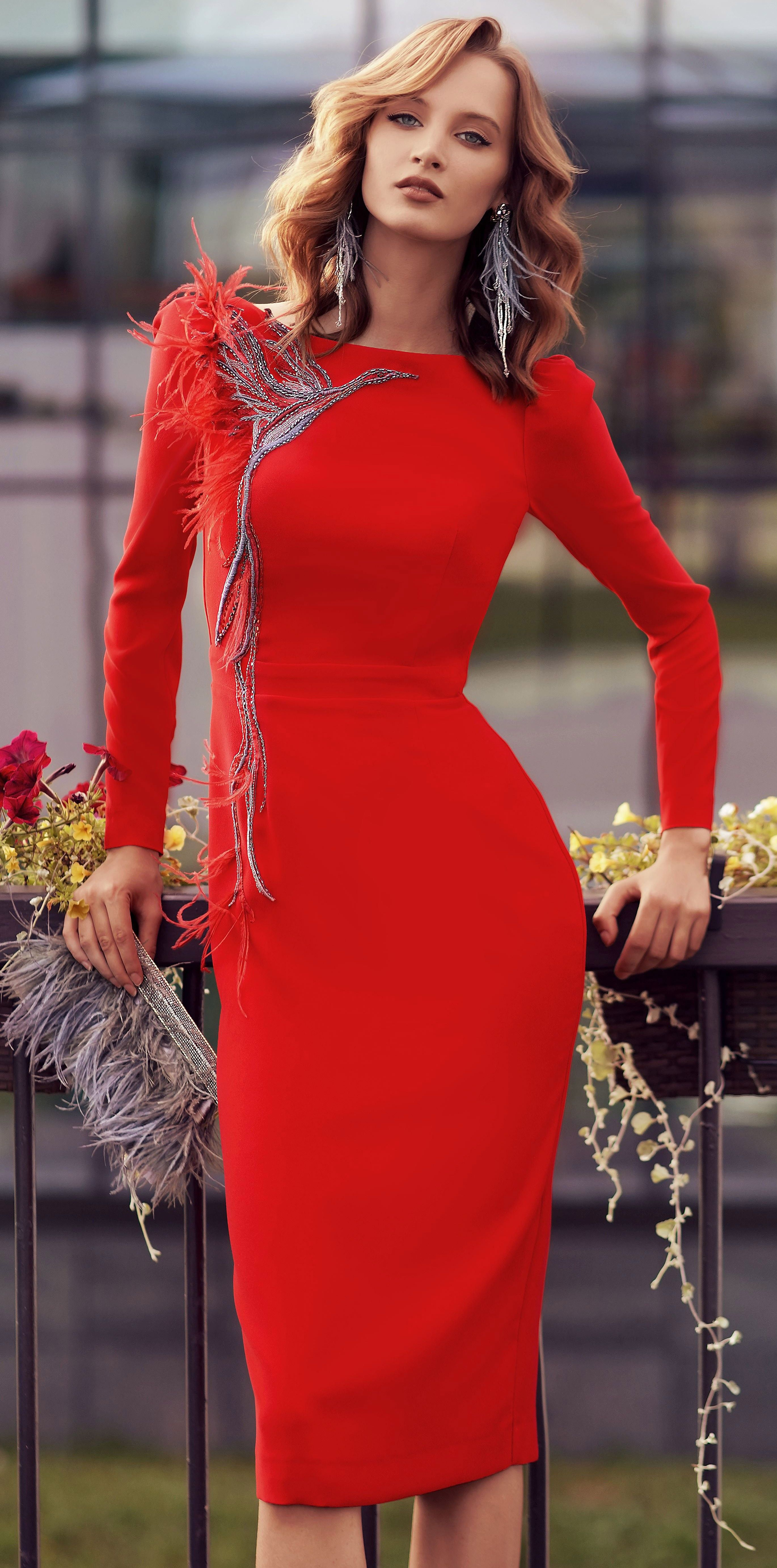Papilio Red Special Occasion Dress With Long Sleeves Dresses Red Dress Outfit Occasion Dresses [ 5528 x 2740 Pixel ]