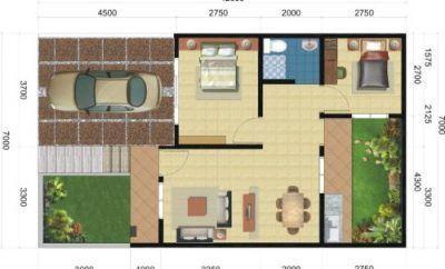 5 desain teras ukuran 5 x 10 terkeren | denah rumah, ruang