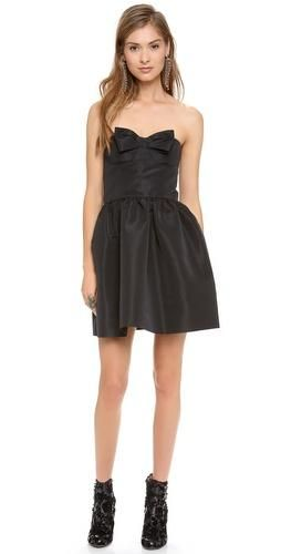 Red Valentino Strapless Black Bow Dress Future Closet Pinterest
