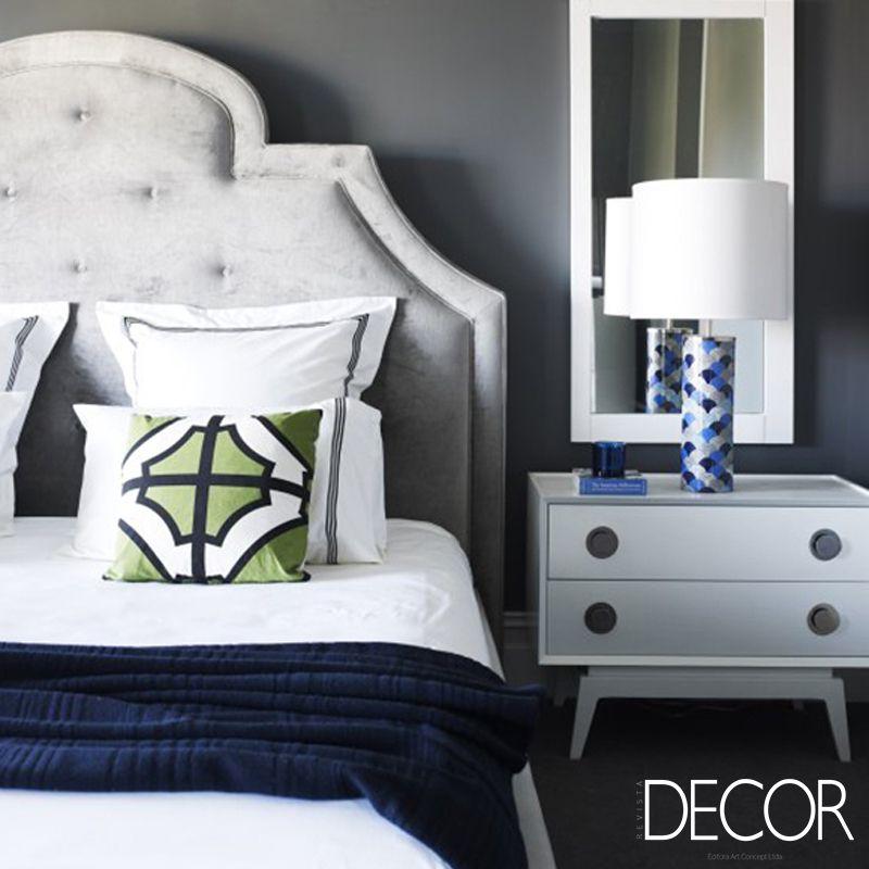 Sofisticação e traços marcantes no dormitório