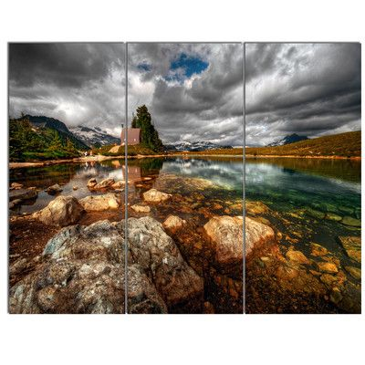 DesignArt 'Beautiful Clear Mountain Lake' 3 Piece Photographic Print on Wrapped Canvas Set