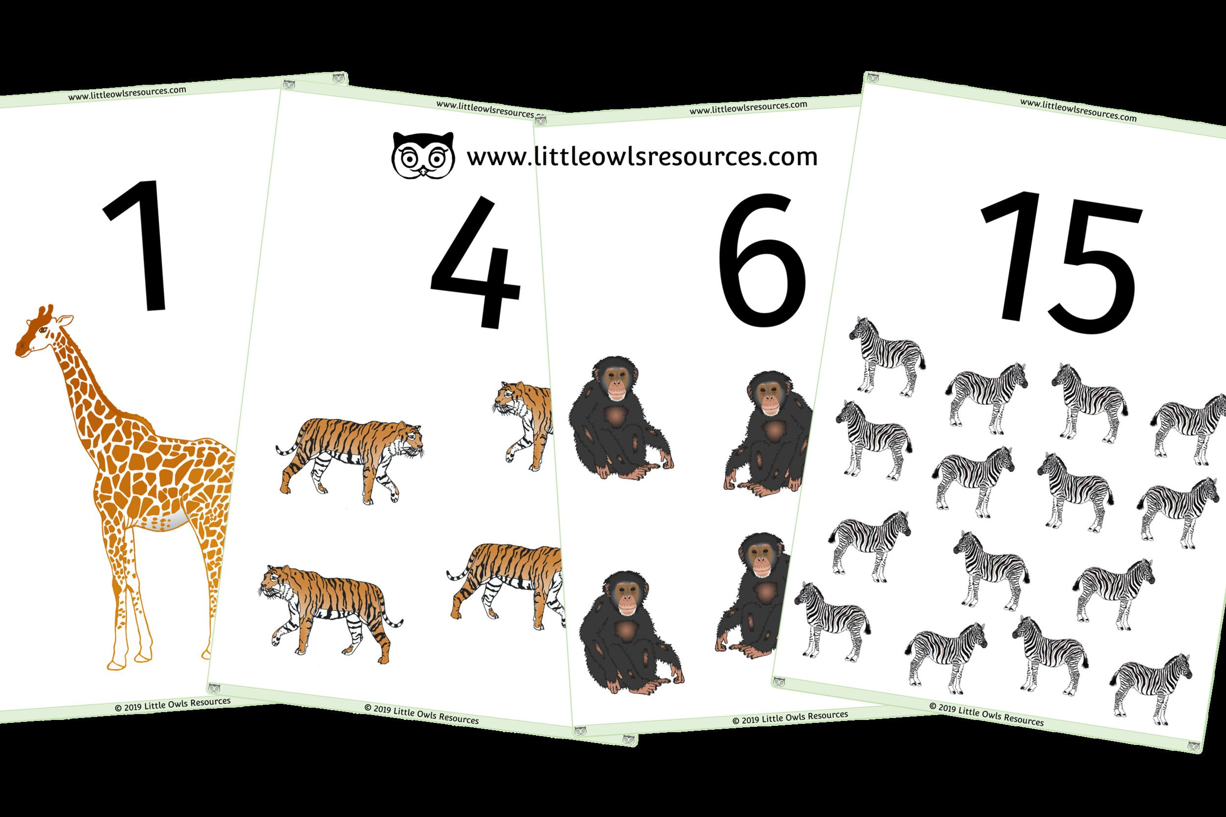 6 Farm Animals And Their Babies Flashcards 0 20 Count Zoo