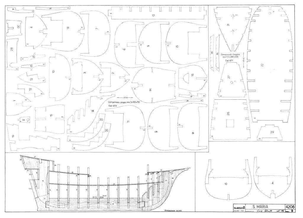 Modelismo naval construcci n de la santa mar a planos for Hacer planos a escala