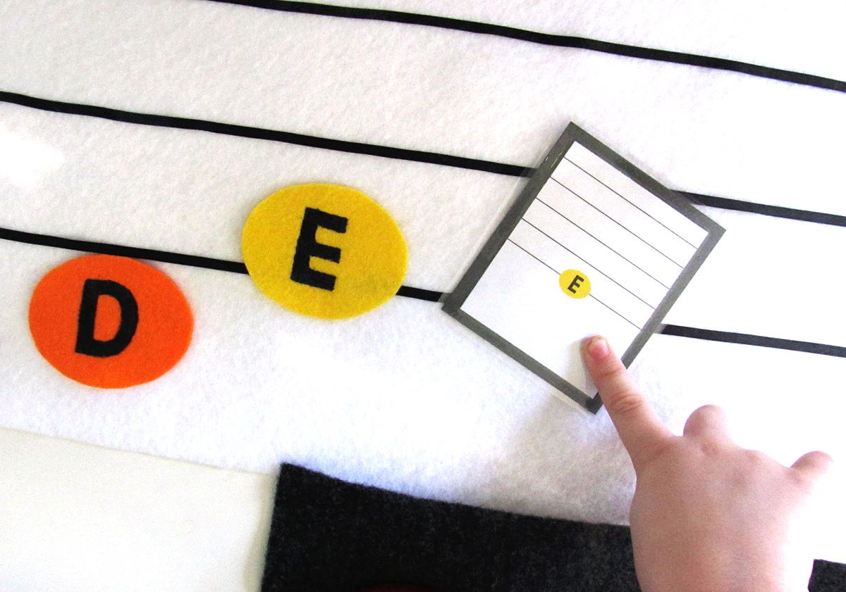 Preschool Handbells New Sew Felt Musical Notes And
