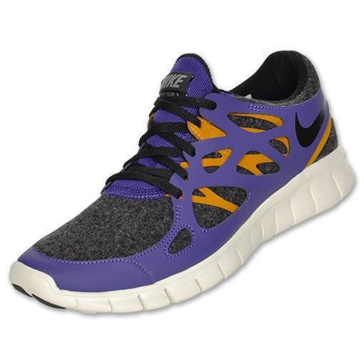 Women's Nike Free Run+ 2 Running Shoes Grey/Purple/Orange 536746-015 Size 6 #Nike #RunningCrossTraining