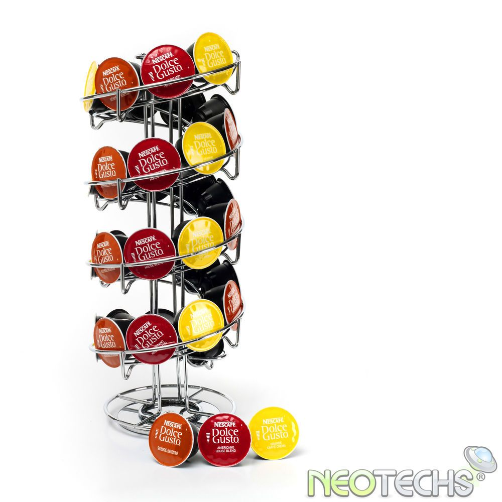 Revolving Spiral 32 Capsule Coffee Pod Holder Tower Stand Rack For Dolce Gusto Coffee Pod Holder Dolce Gusto Pod Holder Dolce Gusto