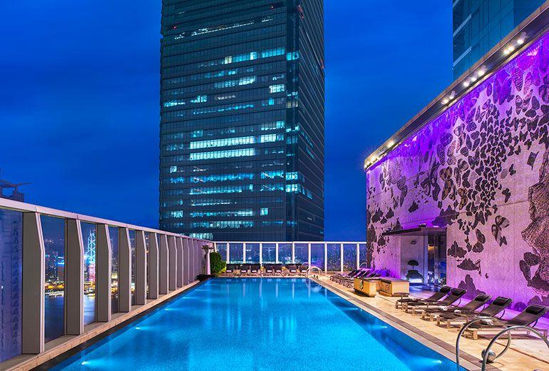 WET®+Swimming+Pool+-+Night+view