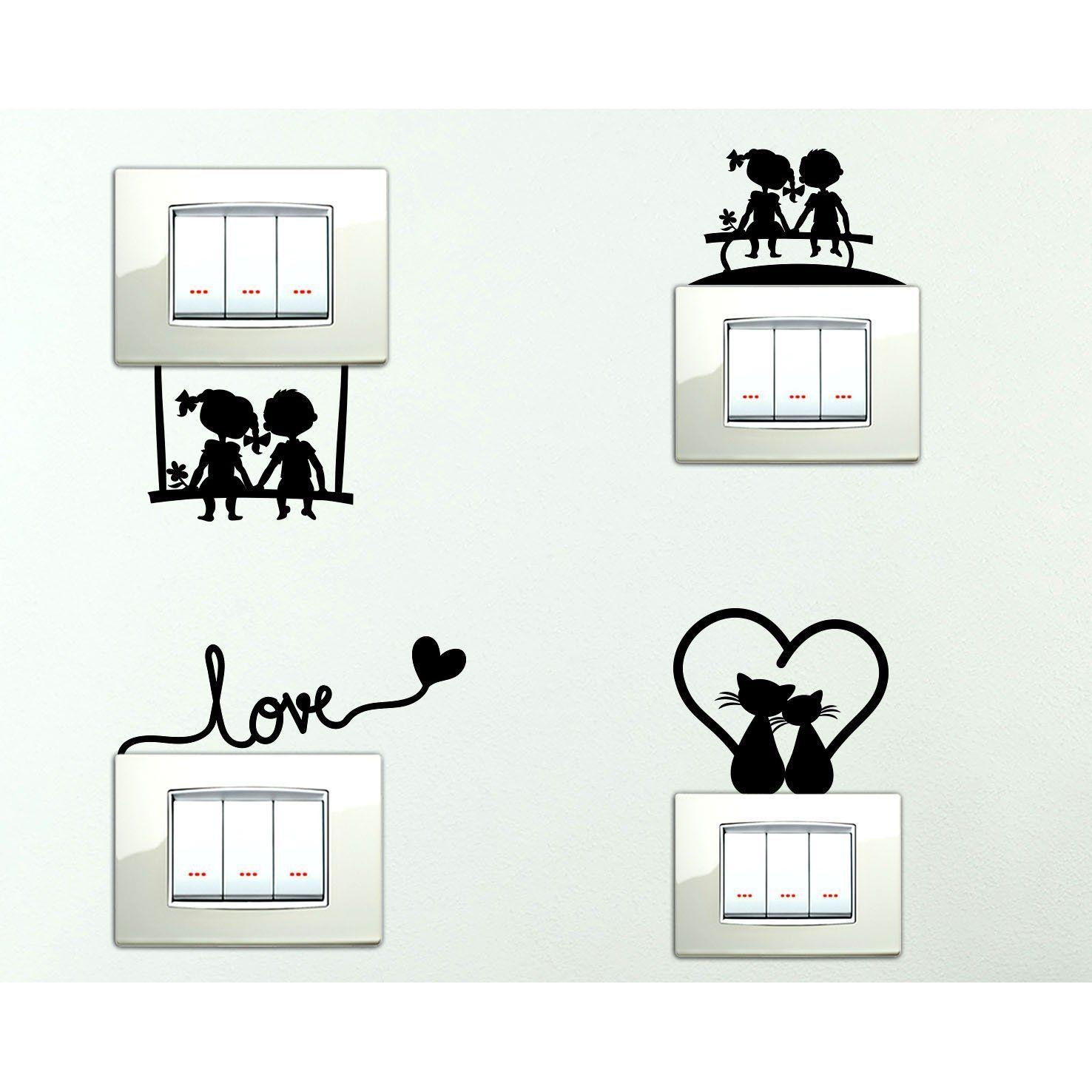 StickerDesign Adesivi per interruttore 4 PEZZI spine placche ...