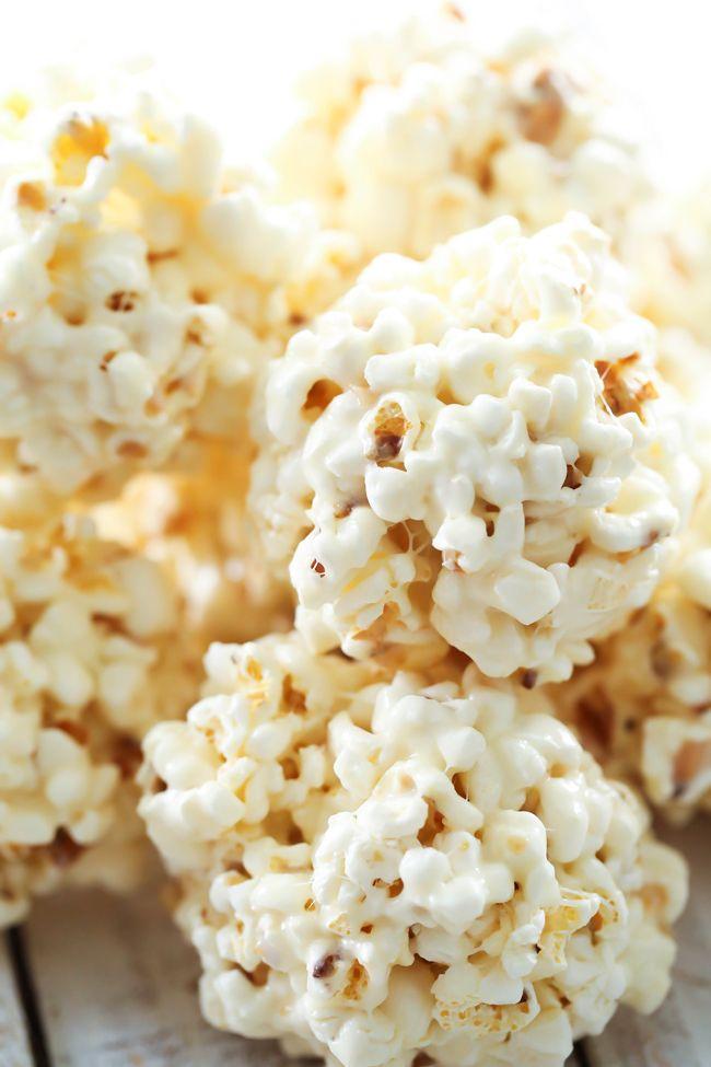 Marshmallow Popcorn Balls - Chef in Training #popcornballs