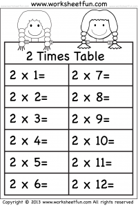 Worksheets Maths Tables 2 To 3 times tables worksheets 2 3 4 5 6 7 8 9 10 11 and 12 7
