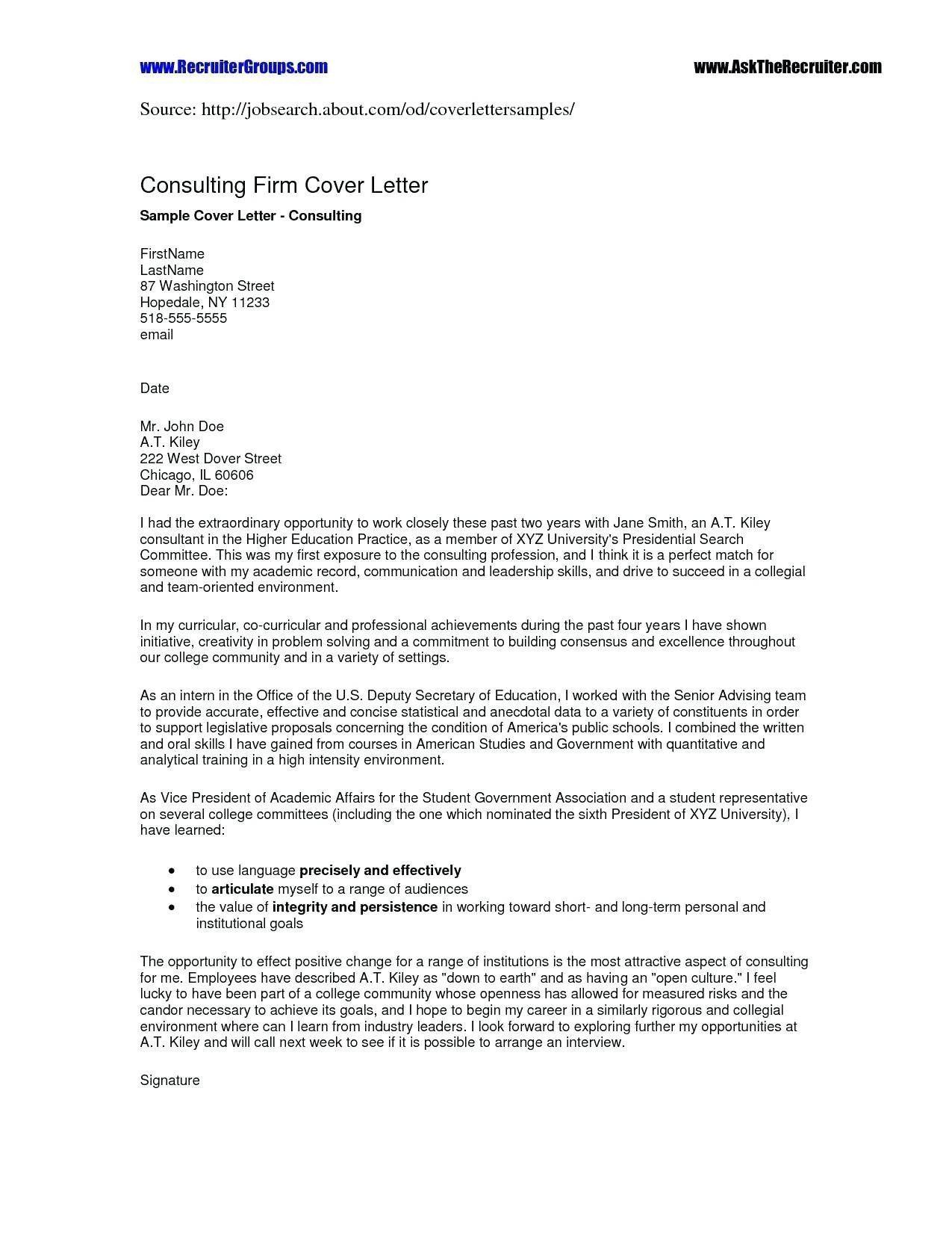 Cover Letter For Job Referral