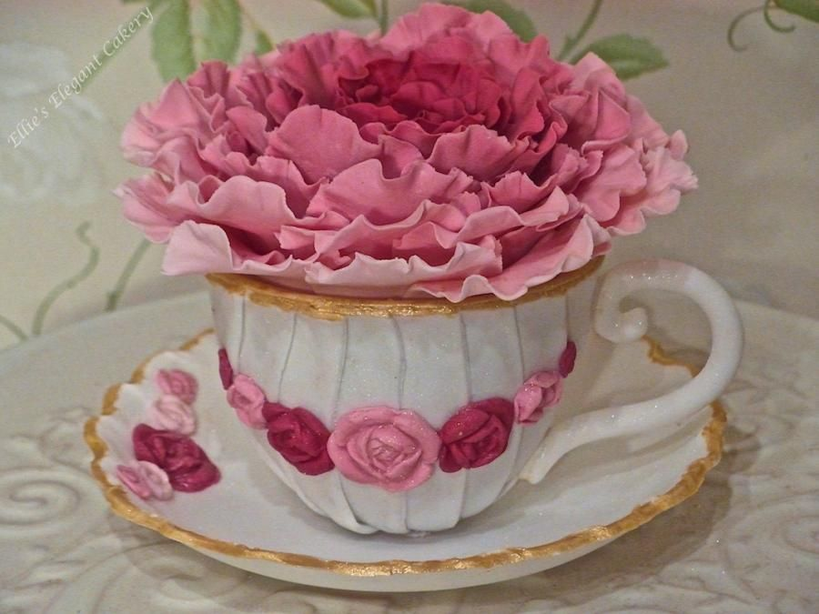 Cup And Saucer Cake Topper