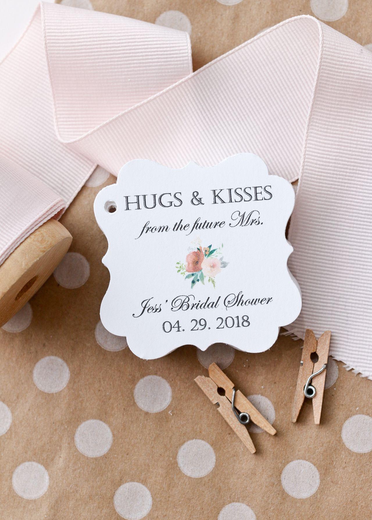 Future Mrs Favor Tags - Hugs & Kisses - Bridal Shower Favors ...