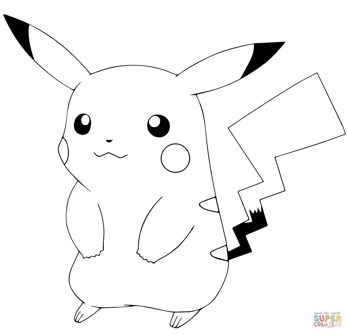 Pokémon GO Pikachu coloring page from Pokémon GO category