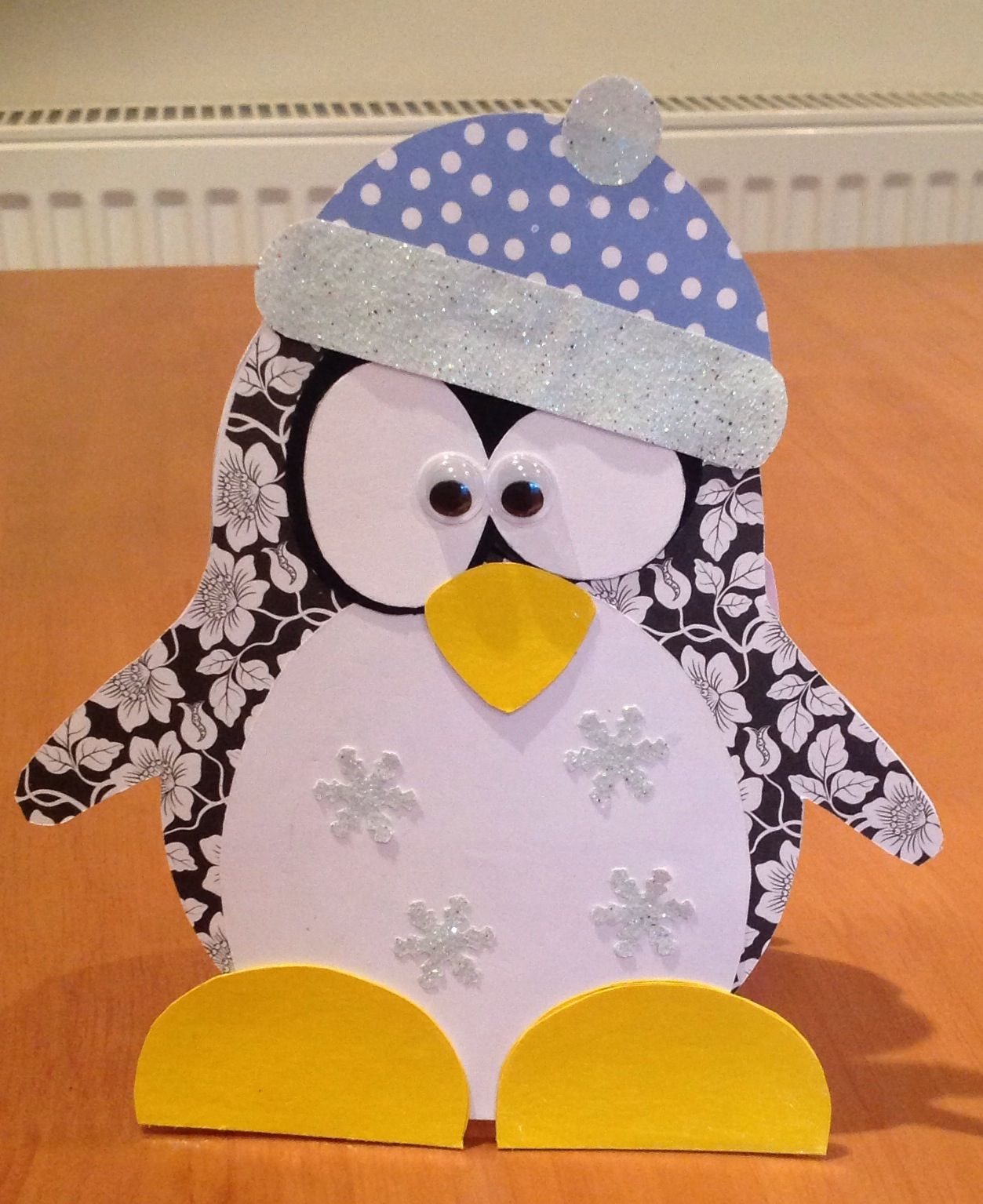 Card Making Ideas Pdf Part - 30: Handmade Penguin Card. Template From Http://www.mamadinis.com/