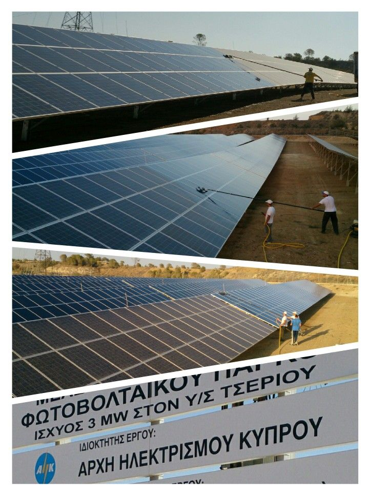 Sweepers Co Ltd Sweepers Co Cleaning The Ahk Solar Power Station 3 Mw Cyprus Solar Power Station Solar Roof Solar Panel