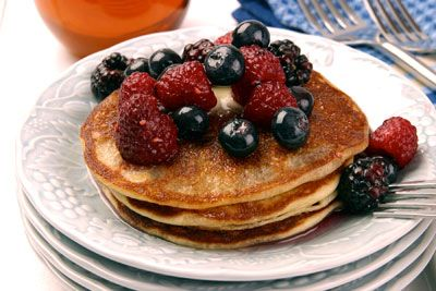 Almond Buttermilk Pancakes Once you make homemade pancakes, you'll never want to use a box mix again and the blender does all the work! The addition of Almond Paste and oats makes these pancakes high in fiber and flavor