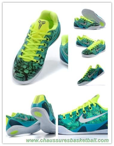 best sneakers 80a55 e8a70 chaussures basketball pas cher Nike Kobe 9 EM 646701-300 Fluorescent colors