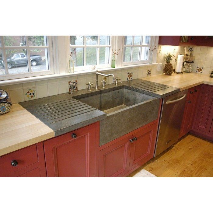 Beautiful Betonas Apron Front Farm Sink U0026 Drainboard (but Itu0027s Concrete)