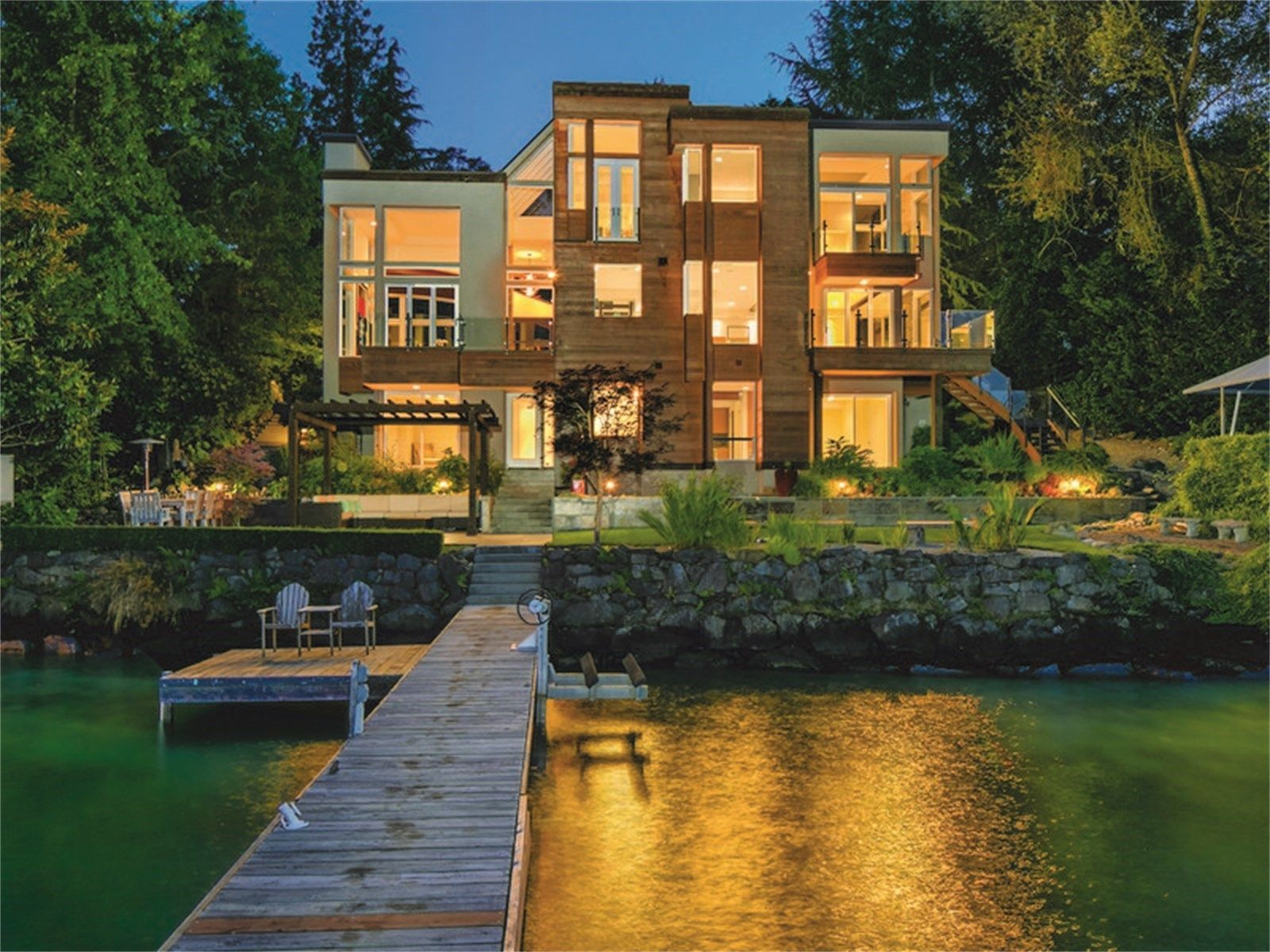 Incredible Contemporary Waterfront Home Mercer Island Washington Beutiful Home Inspiration Ommitmahrainfo