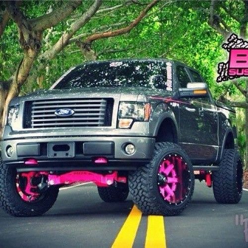 Ford Truck With A Little Pink Trucks Ford Trucks Big