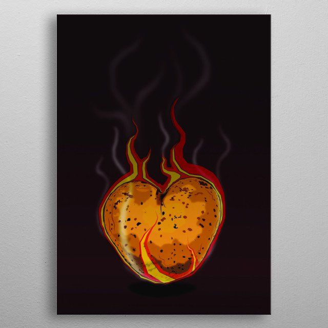 Hot Potato by Ian Alien | metal posters - Displate | Displate thumbnail