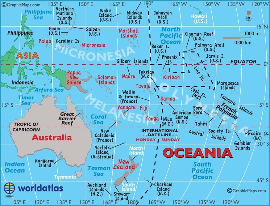 Print on transparency large map of australia and oceania easy to map of oceania geography of australia and oceania maps countries landforms gumiabroncs Image collections