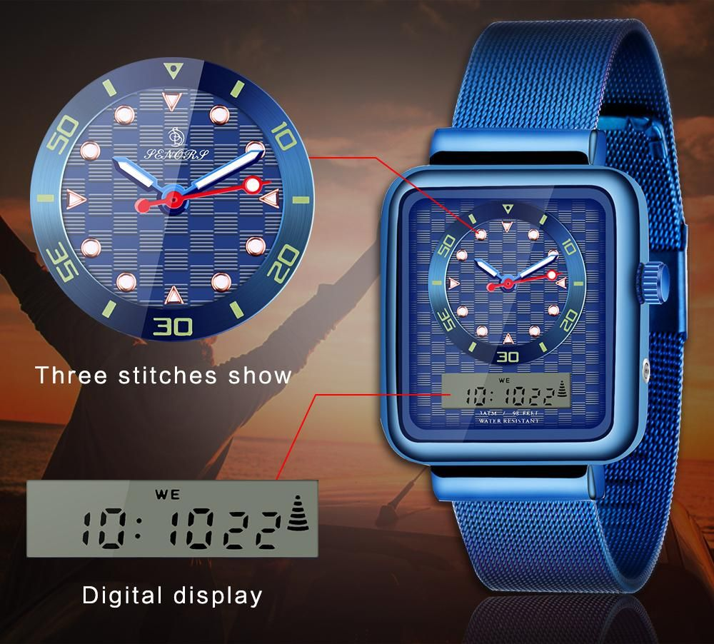 Cheap Kids Watches Wholesale Dual Time Display Mesh Steel
