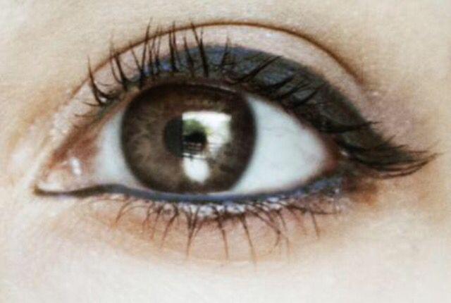 Eye Makeup ~ brown eyes ♡ navy blue eyeliner
