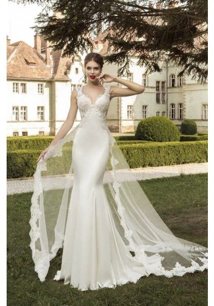 2 Detachable Train Wedding Dresses Satin Mermaid Wedding Dress Wedding Dress Train Wedding Dresses