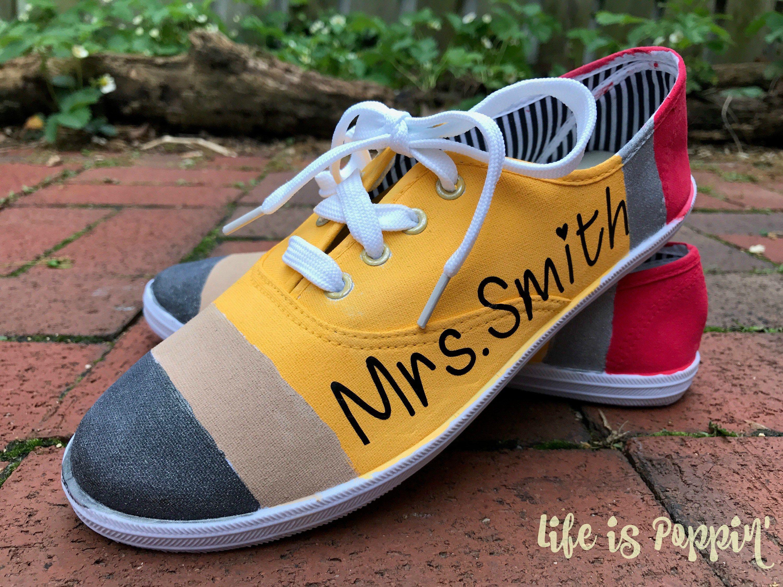 Pencil Painted Canvas Shoes