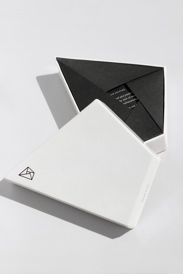 Bespoke Branded White Box With Silver Foil Print And Custom Black Interior Fold Out Fully