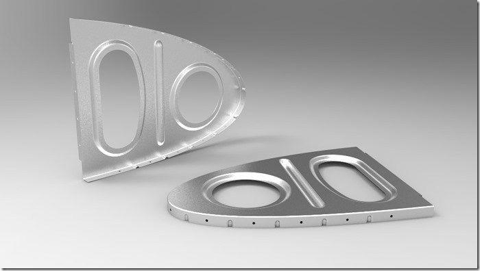 Une Nervure En Aluminium Embouti Sur Catia V5 Generative Sheet Metal Design
