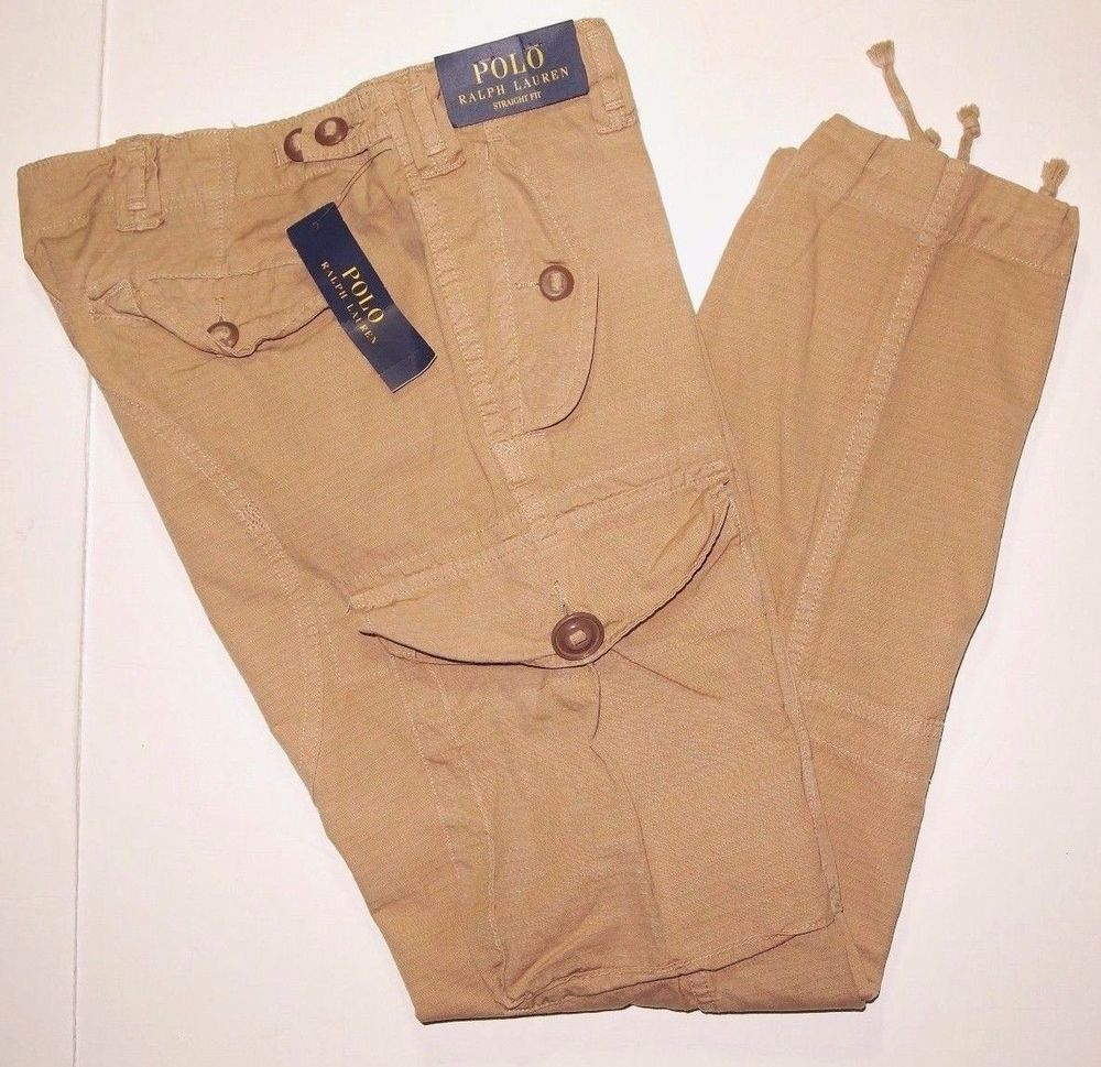 832071429 Polo Ralph Lauren straight fit ripstop military style cargo pants size  36x30 NEW  PoloRalphLauren  Cargo