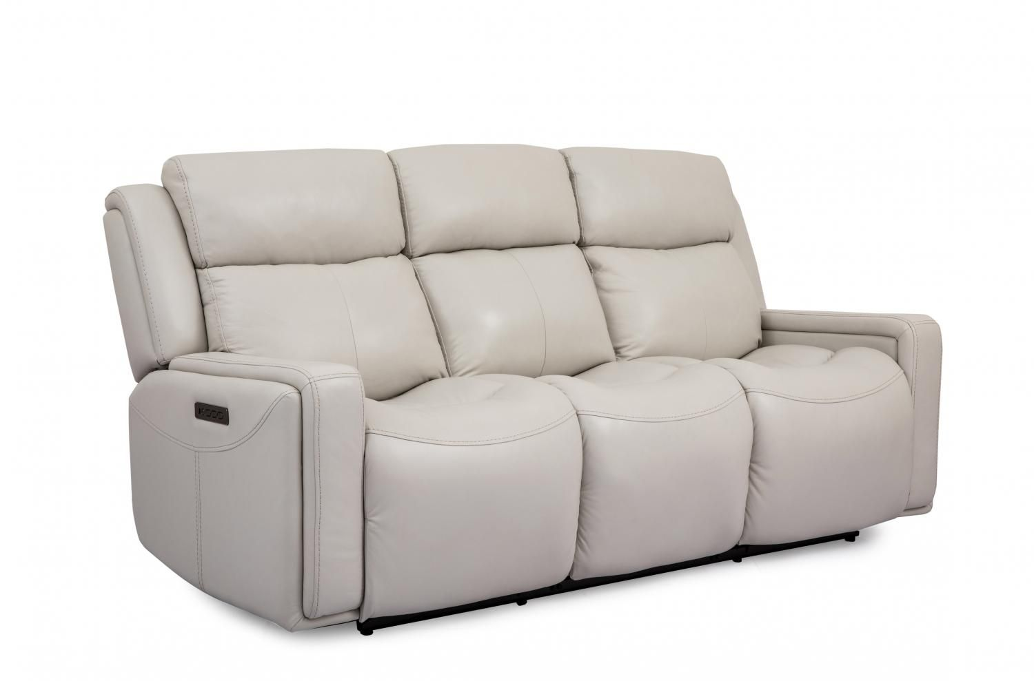 5772l32ezh4526 Cheers Leather Dual Power Sofa With Power Headrests